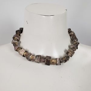 925 Sterling Silver Chunky Necklace